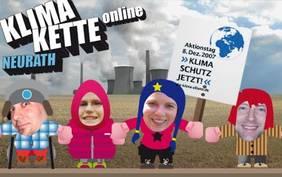 Online-Menschenkette